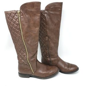 Mossimo Supply | Tall Brown Faux Zip Boots Size 8